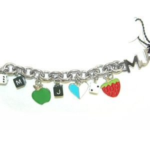 Marc Jacobs Fruit, Heart & Dice Charm Bracelet